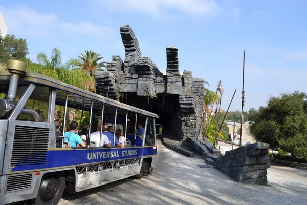 Vers l'attraction King Kong 3D Universal Studios Hollywood