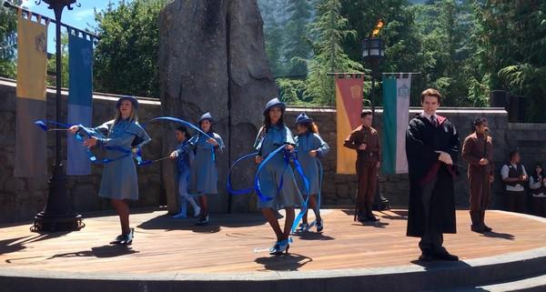Chorale de crapauds et spectacle du tournoi des trois sorciers Universal Studios Hollywood