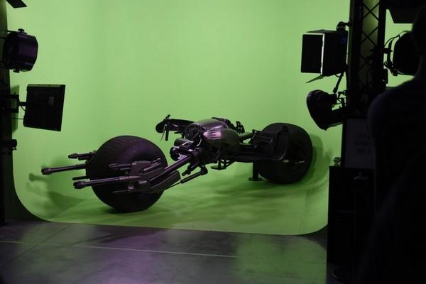 Fond vert moto Batman Warner Bros Studios Hollywood