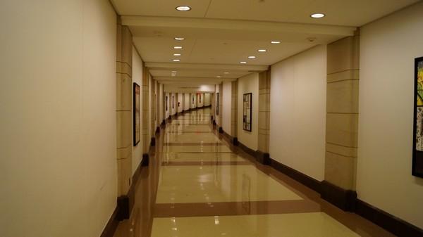 Le tunnel menant du Capitole à la Bibliothèque du Congrès Washington