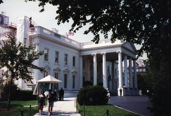 Entrée des visites de la Maison Blanche Washington