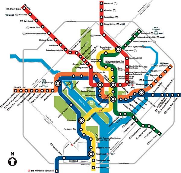 Plan métro Washington DC