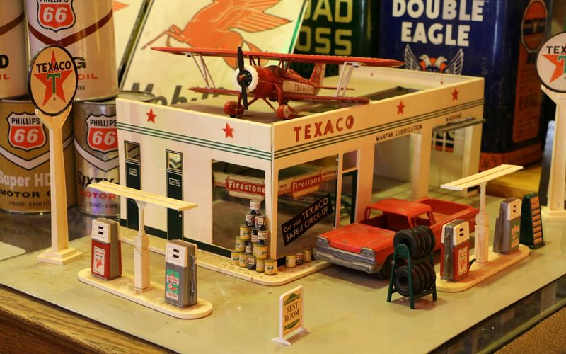 Maquette station essence Texaco Classical Gas Museum